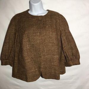 Poncho style Wool Blend Jacket